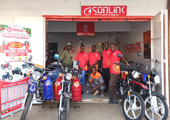 Another new sonlink motorcycle shop was opened in Kenya